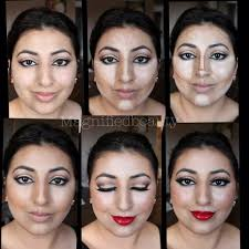 contour makeup using la s hd concealers and anastasia contour kit