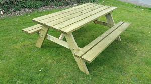 Table  Picnic Table Bench With Back Plans Wonderful Picnic Table How To Make Picnic Bench