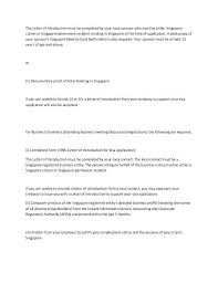 self introduction letter for visa sles business email sle new cover emplo business introduction letter