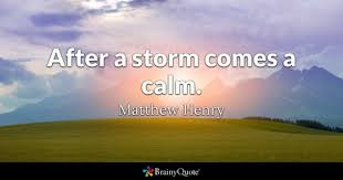 After The Storm Quotes