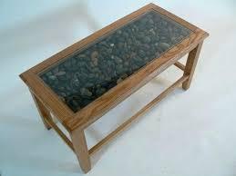 glass display coffee table glass top display coffee table with drawers collection glass display stone top