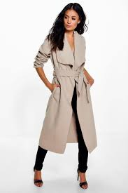 kate belted shawl collar coat azz08887 kthbett