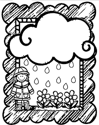 Small Picture April Shower Girl Flower Cloud Frame Coloring Page Wecoloringpage
