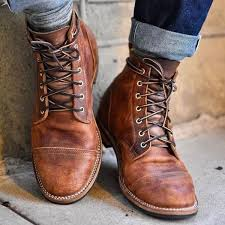 Shoes - <b>High Quality Men's Vintage</b> British Style Martin Boots ...