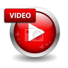 Video web button (widok zegarka ikona media player muzyka na Fototapeta •  Fototapety uruchomić, pobierz, szklisty | myloview.pl
