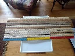 lot of 11 wooden yardsticks most vintage free usa rulers folding