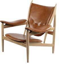 burnt orange furniture. arne chair in burnt orange leather on mid century wood frame furniture i