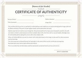 Best Ideas Of Free Printable Certificate Of Authenticity Templates