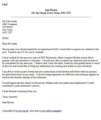 Chef Cover Letter Example Icover Org Uk