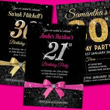 th birthday party invitations for her simple ideas th birthday party invitation por 30th birthday party