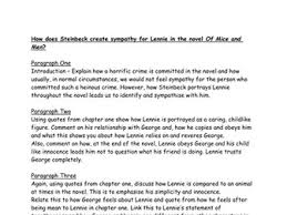 of mice and men bundle by hmbenglishresources teaching how does steinbeck create sympathy for lennie essay plan of mice and men