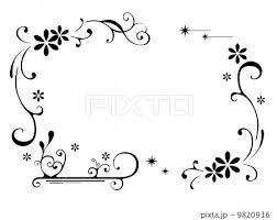 Latteさんno68019の花 フレーム イラスト イラスト素材 Pixta