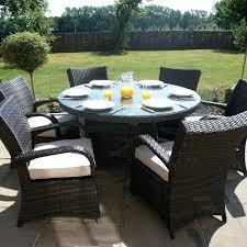 round patio table for 6 maze rattan garden furniture brown 6 round table set rattan patio round patio table
