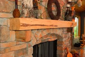 live edge mantel with corbels