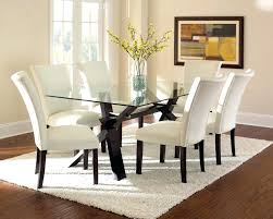 dining room small dining table and 4 chairs round black glass for glass and wood dining