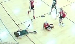 Wooden Basketball Game Wisconsin middle school girl impaled by floorboard splinters in 73