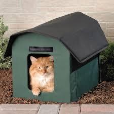 Cat House The Only Outdoor Heated Cat Shelter Hammacher Schlemmer