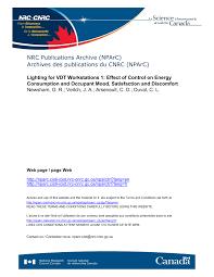 Vdt Lighting Pdf Lighting For Vdt Workstations 1 Effect Of Control On