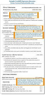 Forklift Operator Resume Resume Cover Letter For Resume