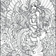 Mermaid Coloring Pages For Teens Coloring Design