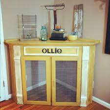 dog crate corner mantel