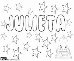Kleurplaat Julieta Verkleinwoord Van Julia Kleurplaten