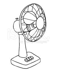 table fan clipart black and white