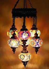 turkish mosaic chandelier mosaic chandelier 5 ball turkish mosaic chandelier lamp