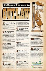 best writing stuff images writing advice  11 essay phrases to outlaw