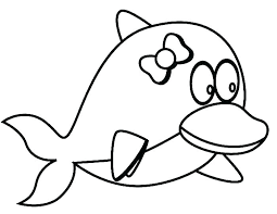 Free Dolphin Coloring Pages Coloring Page Of A Dolphin Coloring
