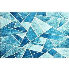 lake of dream blue geometric rug for living room large size thicken blue geometric rug blue grey geometric rug