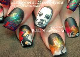 Robin Moses Nail Art: HALLOWEEN MIKE MYERS Nail Art!