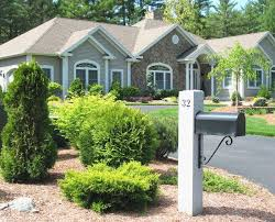 Mailbox landscaping ideas Curb Appeal Vashdomikinfo Landscaping Ideas Brick Around Mailbox