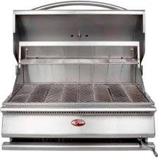 built in stainless steel charcoal grill