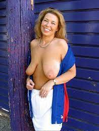 Topless Mom Low Hanging Breasts