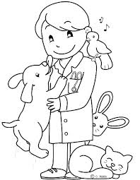 Veterinarian Coloring Page Veterinarian Coloring Pages Blog Post