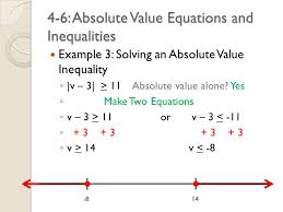 4 6 absolute value equations and inequalities example 3 solving an absolute value