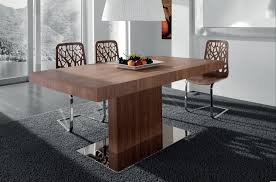 alluring dining room with wooden modern kitchen tables also brown chairs plus chandelier