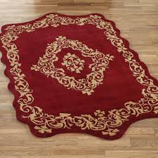 palatial ruby sculpted wool area rugs