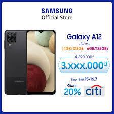 Giá bán | Điện thoại Samsung Galaxy A12 (4GB/128GB) - Cụm 4 camera 48MP -  Pin trâu 5.000mAH - Sạc nhanh 15W - Miễn phí vận chuyển - Trả góp 0% -