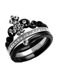 mode Jewelers - <b>3 pc</b> Crown <b>Bridal Wedding</b> ring designer <b>fashion</b> ...