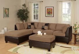 Living Room With Sectional Sofa Amazoncom Bobkona Hungtinton Microfiber Faux Leather 3 Piece