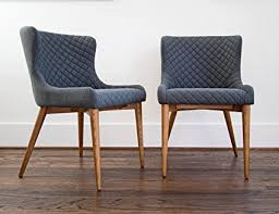 dining room chairs set of 2 modern dining chairs upholstered charcoal grey fabric