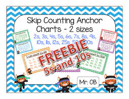 Skip Count By 5s And 10s Anchor Charts Freebie