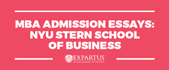 mba admission essays nyu stern school of business mba admission essays