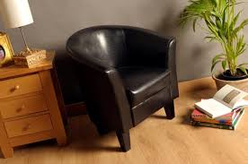 clearance faux leather tub chair armchair with a choice of 4 colours picture 2 of 2