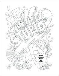 Swear Word Coloring Pages Printable Best Collection Adorable Free