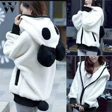 Womail <b>Fashion Cute</b> Bear Ear Panda <b>Winter Warm</b> Hoodie Coat ...