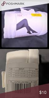 White Tights Pantyhose Nwt Still In Packaging See Picture