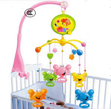 Hot Sale Baby Rattles In The Crib Toys Spin Musical Mobile Bed Bell With 20 Music For 0-12 Months Best Gift